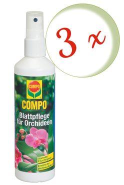 Sparset: 3 x COMPO Blattpflege für Orchideen, 250 ml