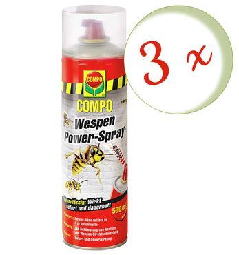 Sparset: 3 x COMPO Wespen Power-Spray, 500 ml