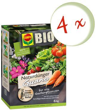 Sparset: 4 x COMPO BIO NaturDünger Guano, 6 kg