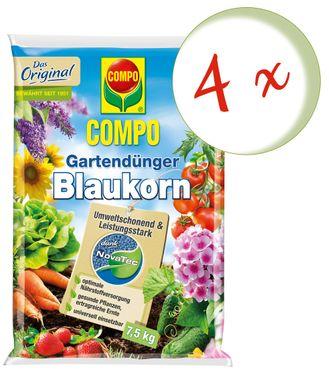 Sparset: 4 x COMPO Gartendünger Blaukorn® NovaTec®, 7,5 kg