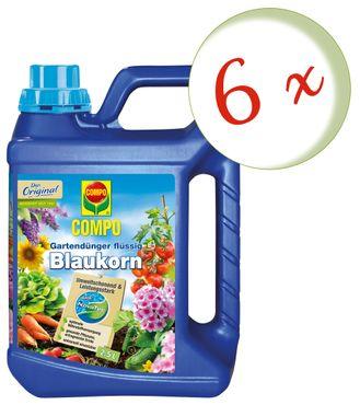 Sparset: 6 x COMPO Gartendünger Blaukorn® NovaTec® flüssig, 2,5 Liter