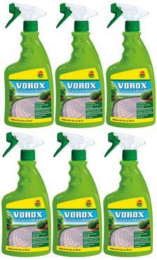 Sparset: 6 x COMPO Vorox® Terrassen und Wege AF, 1000 ml