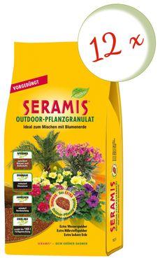 Sparset: 12 x SERAMIS® Pflanzgranulat Outdoor, 16,5 Liter