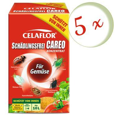 Sparset: 5 x SCOTTS Celaflor® Schädlingsfrei Careo® Konzentrat für Gemüse, 100 ml