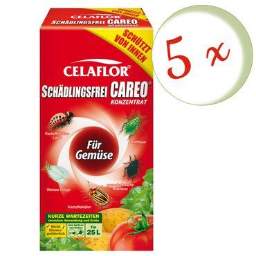 Sparset: 5 x SCOTTS Celaflor® Schädlingsfrei Careo® Konzentrat für Gemüse, 250 ml