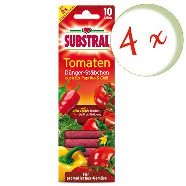 Sparset: 4 x SCOTTS Substral® Dünger-Stäbchen für Tomaten, 10 Stück