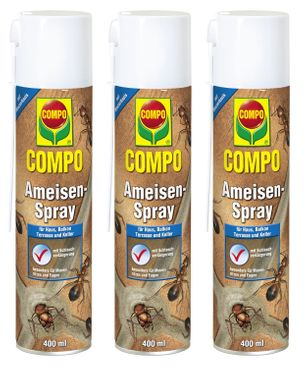 Sparset: 3 x COMPO Ameisen-Spray, 400 ml