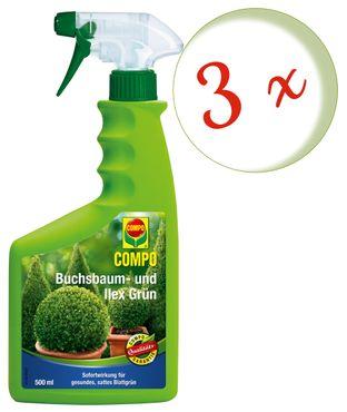 Sparset: 3 x COMPO Buchsbaum und Ilex Grün, 500 ml