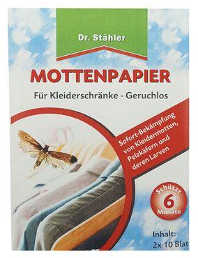 DR. STÄHLER Mottenpapier, 2 Stück