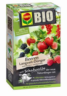 COMPO BIO Beeren Langzeit-Dünger mit Schafwolle, 750 g