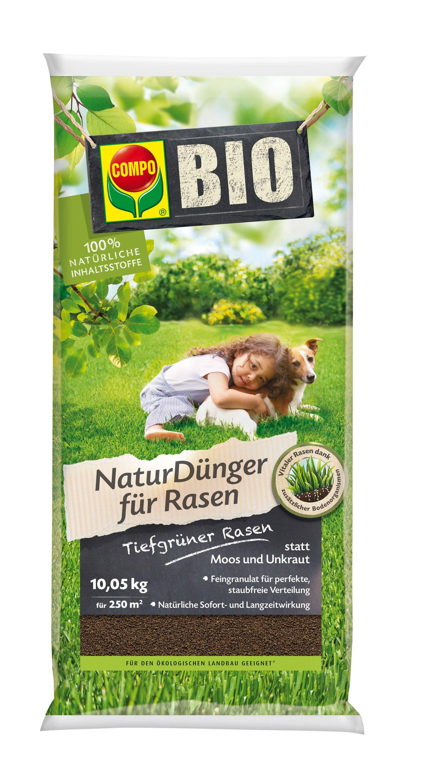 compo bio naturd nger f r rasen 10 05 kg oleandershop. Black Bedroom Furniture Sets. Home Design Ideas