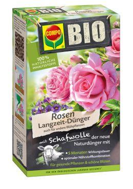 COMPO BIO Rosen Langzeit-Dünger mit Schafwolle, 2 kg