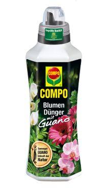 COMPO Blumendünger mit Guano, 1 Liter