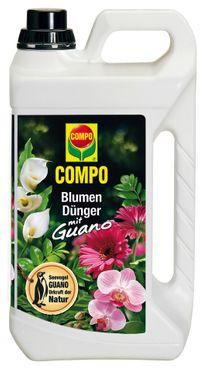 COMPO Blumendünger mit Guano, 3 Liter
