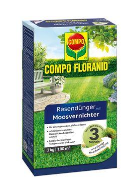 COMPO Floranid® Rasendünger mit Moosvernichter, 3 kg