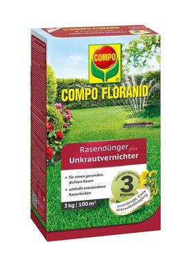 COMPO Floranid® Rasendünger plus Unkrautvernichter, 3 kg