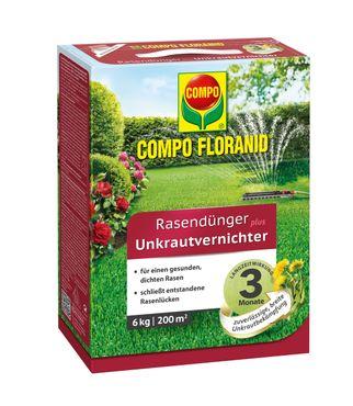 COMPO Floranid® Rasendünger plus Unkrautvernichter, 6 kg