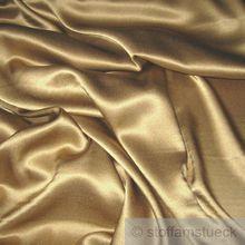 Seide / Elastan Satin bronze
