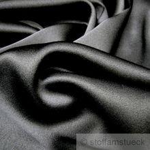 Seide / Elastan Satin schwarz