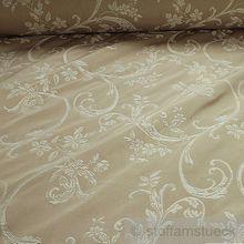 Baumwolle / Polyester Jacquard elfenbein Ranke breit