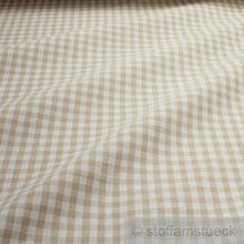 Baumwolle Leinwand Bauernkaro beige weiß