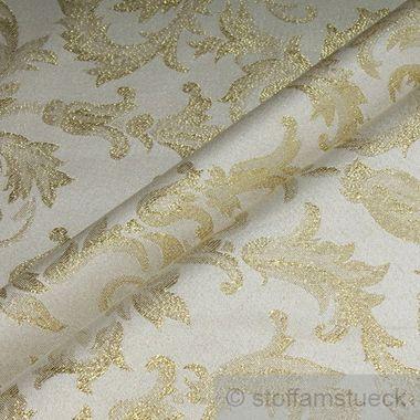 Polyester Jacquard Ornament ecru gold