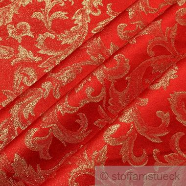 Polyester Jacquard Ornament rot gold