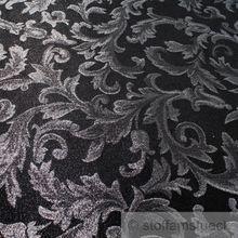 Polyester Jacquard Ornament schwarz silber