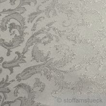 Polyester Jacquard Ornament weiß silber