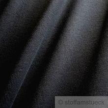 0,5 Meter Baumwolle / Elastan Bündchen schwarz kbA GOTS
