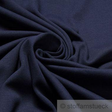 Baumwolle Interlock Jersey dunkelblau