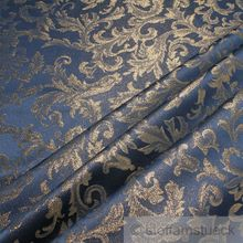 Polyester Jacquard Ornament blau gold