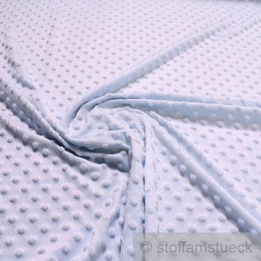 Polyester Minky Fleece hellblau Noppen