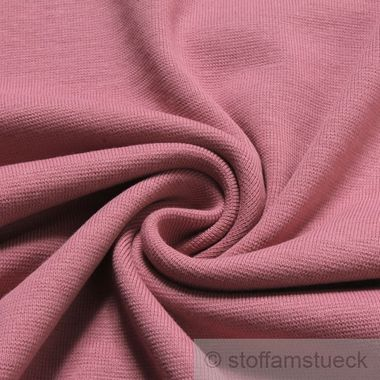 Baumwolle Interlock Jersey pastellrosa