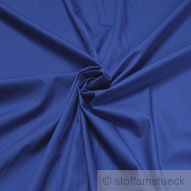 Baumwolle Popeline kobaltblau
