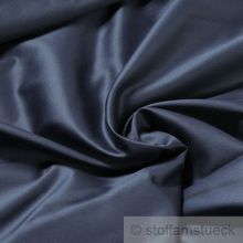Baumwolle Satin marine breit