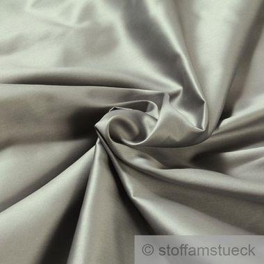 Baumwolle Satin silbergrau breit