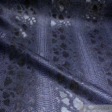 PVC / Polyester / Polyurethan Kunstleder Krokodil nachtblau