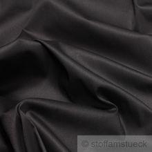Baumwolle / Elastan Satin schwarz