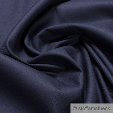 Baumwolle / Polyester / EOL Köper dunkelblau
