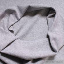 0,5 Meter Baumwolle / Polyester / Elastan Bündchen hellgrau meliert