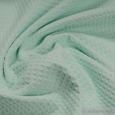 Baumwolle Waffelpiqué mint