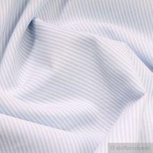 Baumwolle Leinwand Zündholzstreifen hellblau weiß