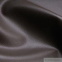 PVC / Polyester / Polyurethan Kunstleder dunkelbraun Narbung
