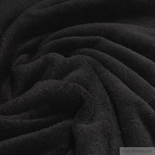 Polyester Wellness Fleece schwarz