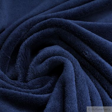 Polyester Wellness Fleece dunkelblau