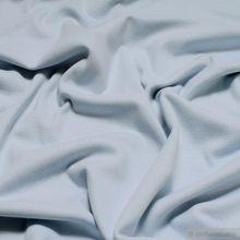 0,5 Meter Baumwolle / Elastan Bündchen hellblau kbA GOTS
