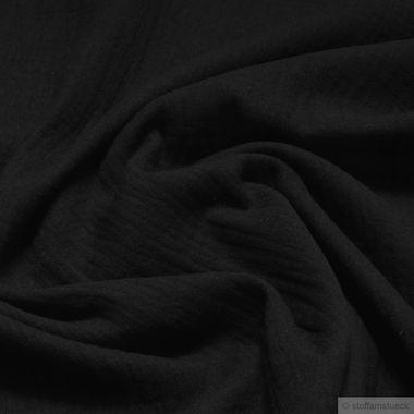 Baumwolle Musselin schwarz