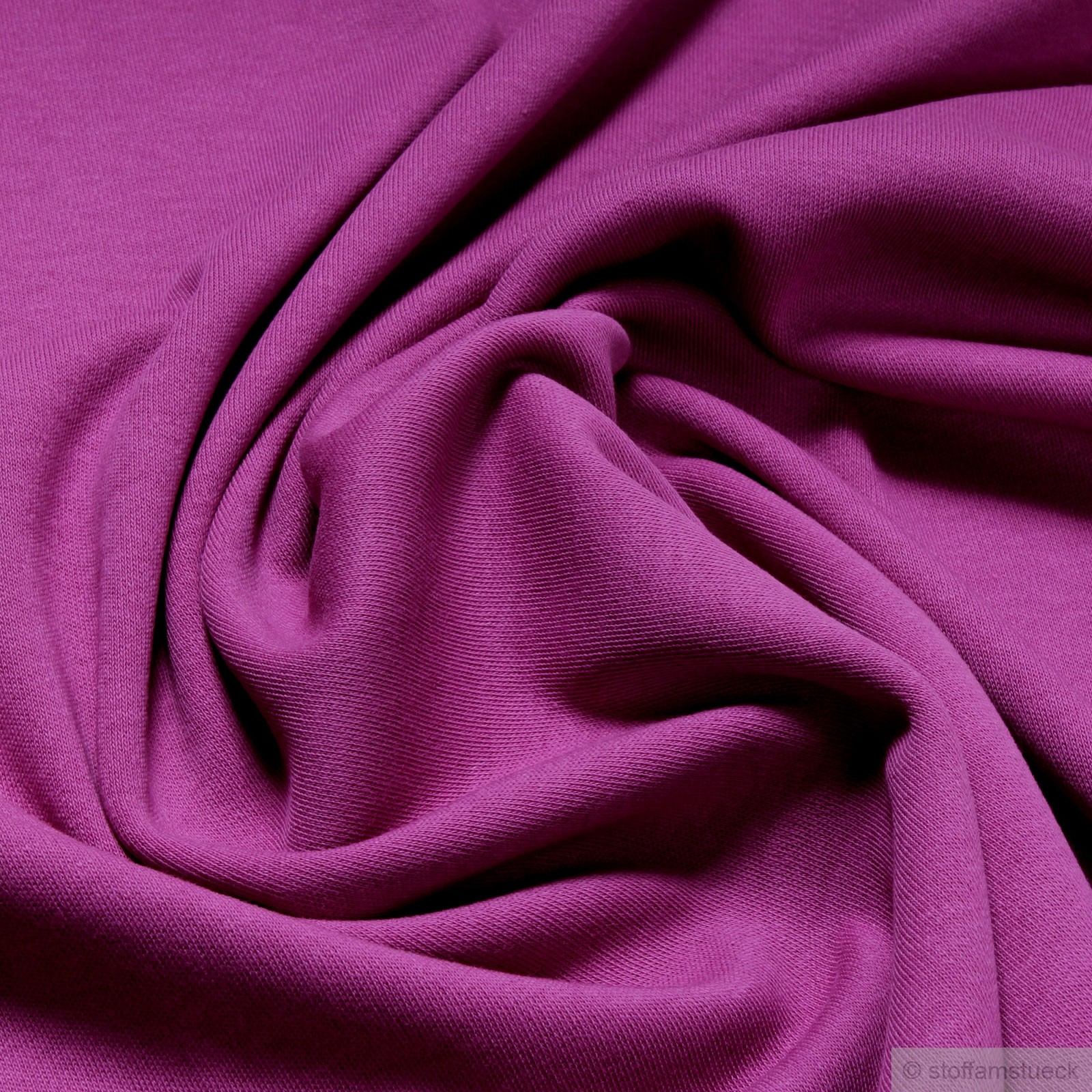 Decke Farbe Fuchsia: Baumwolle Interlock Jersey Fuchsia Farbe Farbe Lila / Pink