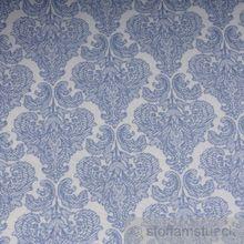 Polyester / Baumwolle Leinwand Ornament weiß hellblau